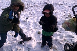 kids in winter snow #krakow